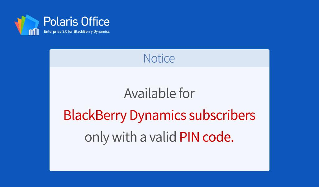 Polaris Office for BlackBerry  Download APK for Android