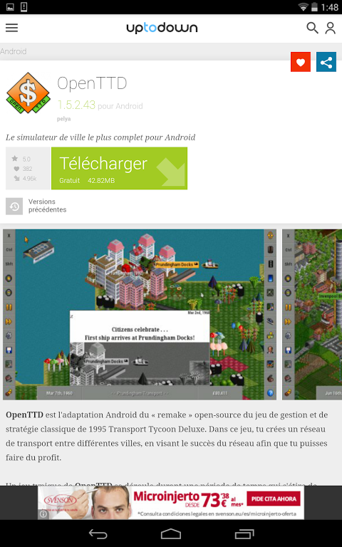 ANDROID TÉLÉCHARGER UPTODOWN TORCHE LAMPE