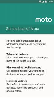 Motorola Notifications screenshot 1