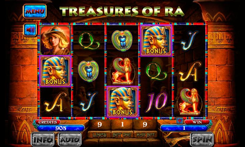 5 treasures slot machine apps
