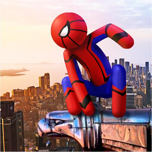 Spider Stickman Rope Hero - Street Gangster Fight