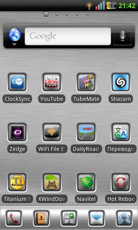 GO Launcher Theme White Metal screenshot 2
