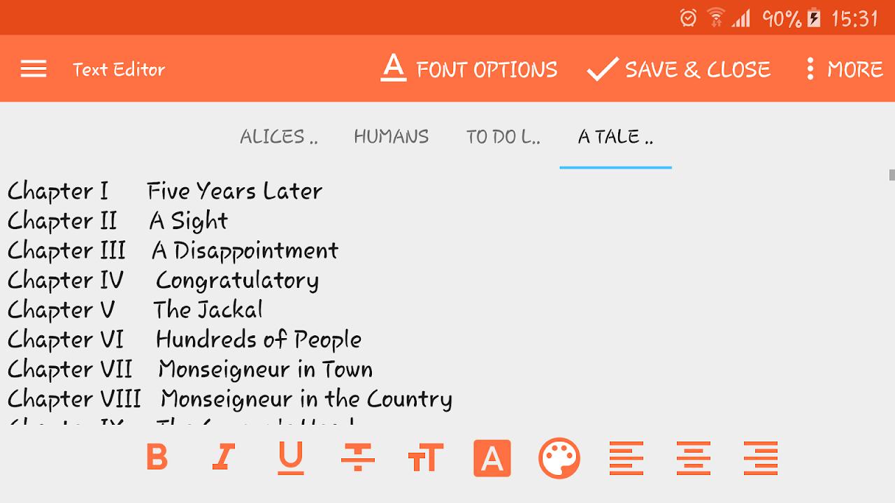 Text Editor screenshot 2