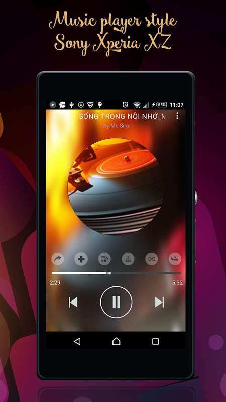 sony xperia music player