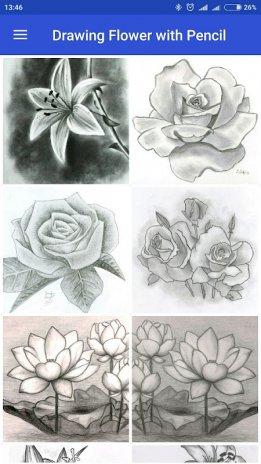 Zeichnung Blume Mit Bleistift 1 1 Laden Sie Apk Für Android
