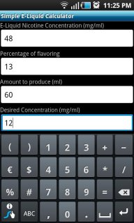 Simple E-Liquid Calculator 1 0 Download APK for Android
