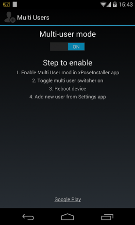 Multiple Users (Xposed mod) 0 94 140313 Download APK for