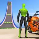 Superhero Bike Stunt GT Racing - Mega Ramp Games