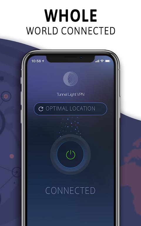Tunnel Light - Free VPN 360 Proxy & Hotspot Master screenshot 1