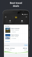 Hotels and Flights Screen