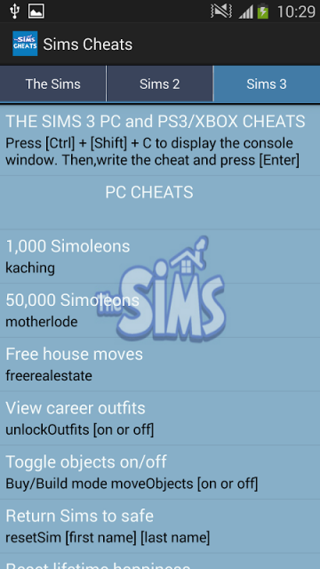 The Sims 3 Cheat Codes and Secrets (PC) - Lifewire