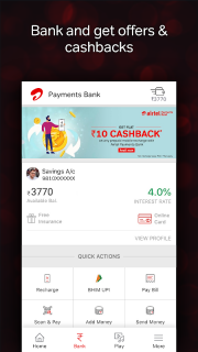 Airtel Thanks - Recharge, Bill Pay, Bank, Play, TV 4 4 5 4