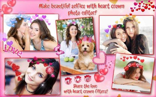 Heart Crown Selfie Camera 💗 Beauty Photo Editor 1 5