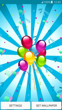 Live Wallpapers Happy Birthday Screenshot 5