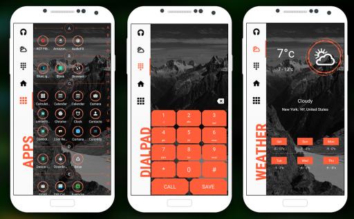Strip Launcher 2019 - stylish theme screenshot 2
