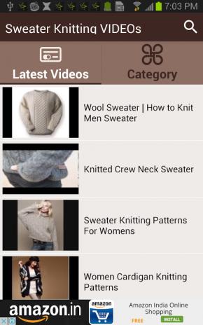 36e8886d451440 sweater knitting videos screenshot 1 sweater knitting videos screenshot 2  ...