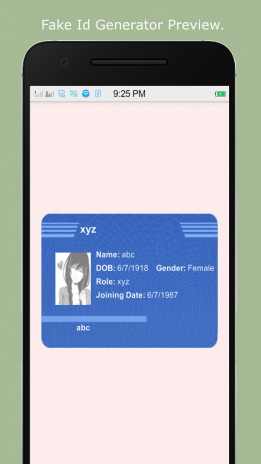 Fake Id Generator 1 0 Download APK for Android - Aptoide
