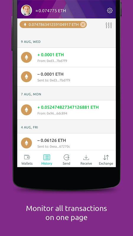 Freewallet: Ethereum Token Wallet screenshot 2