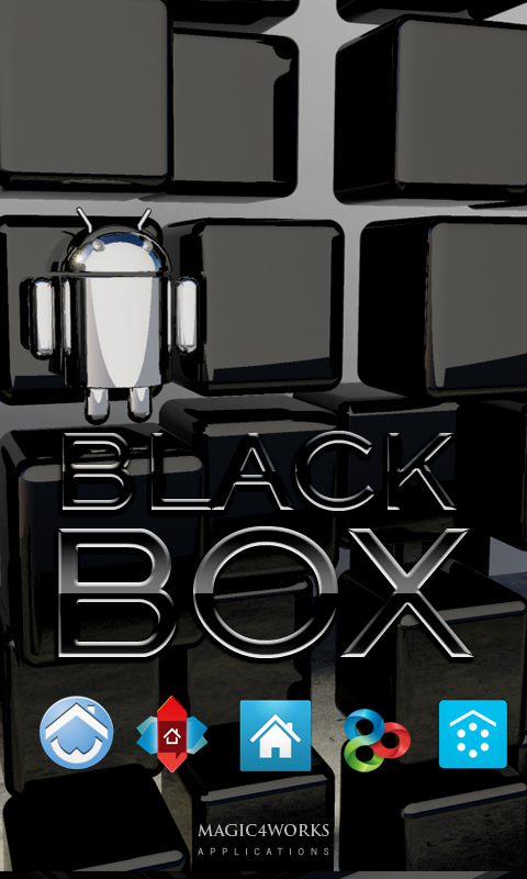 Black box Theme screenshot 1