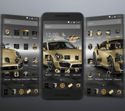 Gold Luxury Car Launcher 1 1 4 Download APK for Android