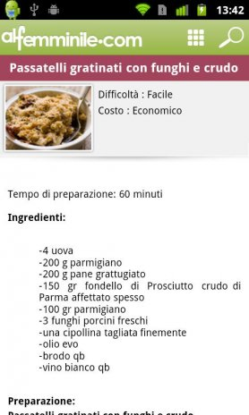 Cucina alfemminile : ricette 1.13 Download APK for Android - Aptoide