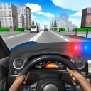 Police Driving In Car