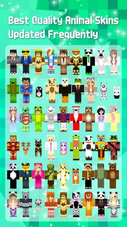 Animal Skins For Minecraft PE Descargar APK Para Android Aptoide - Skins para minecraft pe de animales