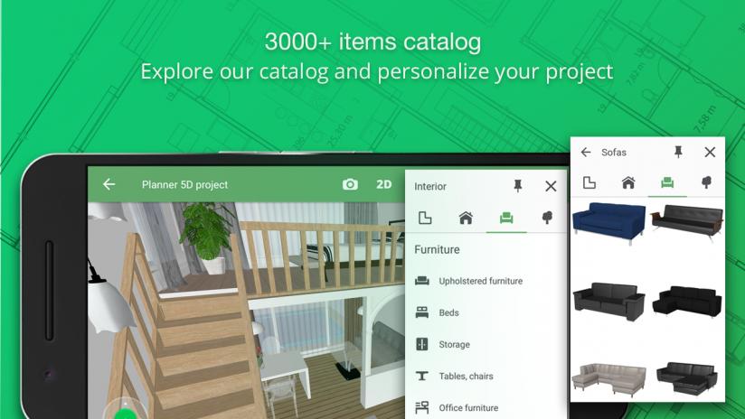 Planner 5D - 5 Aplikasi Android Untuk Mendesain Rumah Idaman Anda
