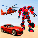 Police Helicopter Robot Car Transforming
