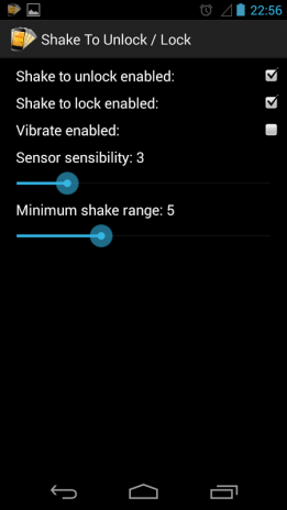 shake screen lock
