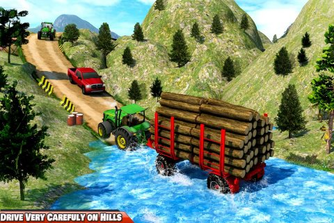 Heavy Tractor Trolley Driver Simulator: Free Games screenshot 3