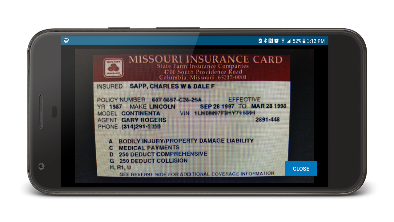 Policy Number On State Farm Insurance Card - Home Collection