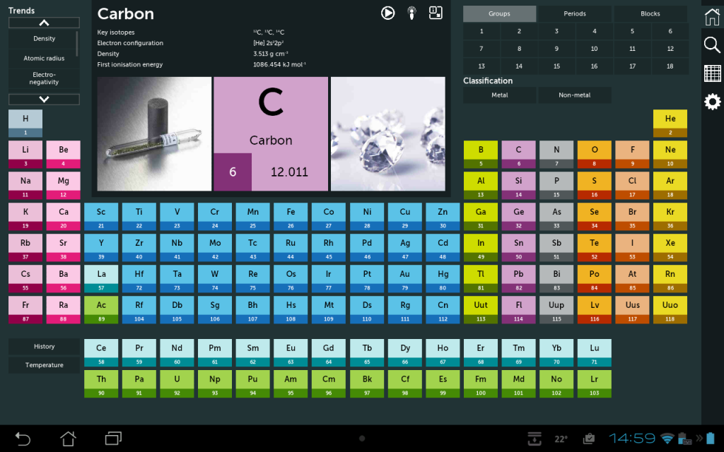 Periodic table a level image collections periodic table interactive periodic table 2017 chemistry in your pocket apk mirror urtaz Choice Image