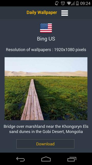 bing daily wallpaper apk