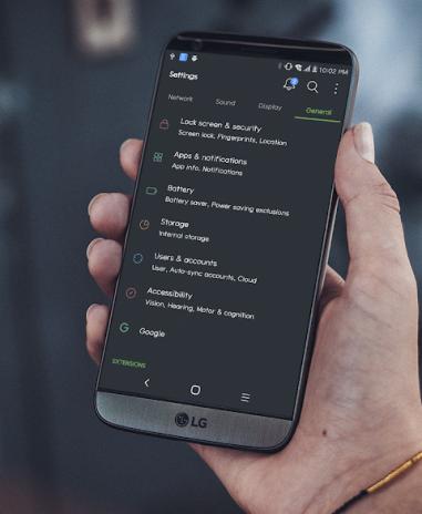 MIUI Dark Theme LG V30 V20 G6 G52 0 tải APK dành cho Android