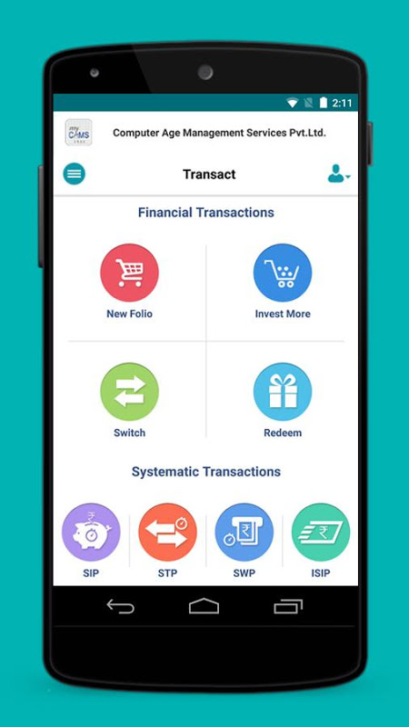 myCAMS Mutual Fund App screenshot 2