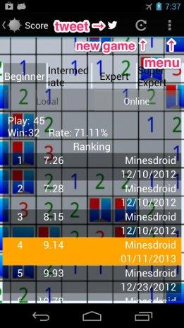 Minesdroid (Minesweeper)1 15 0 tải APK dành cho Android