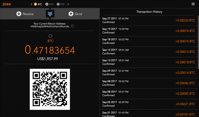 Jaxx blockchain wallet 1318 baixar apk para android aptoide jaxx blockchain wallet captura de tela 6 ccuart Choice Image