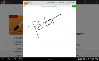 Handwritten PDF signatures Screenshot