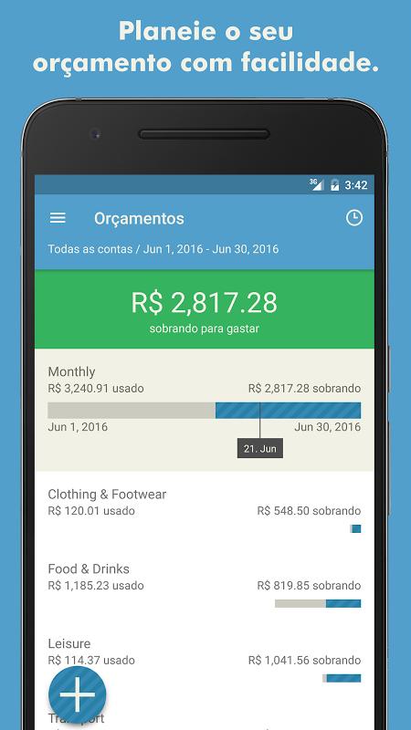 Toshl Finanças - despesas, receitas e orçamentos screenshot 2