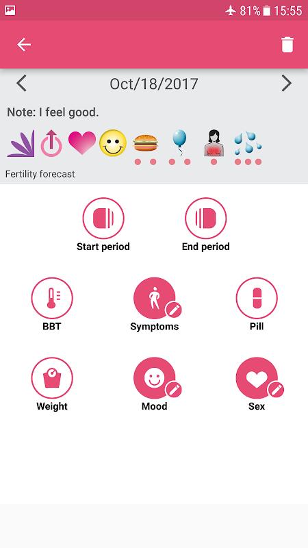 WomanLog Period Tracker & Calendar screenshot 3