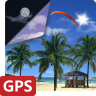 Beach Palms PRO Summer Sea shore 3D Live Wallpaper Icon