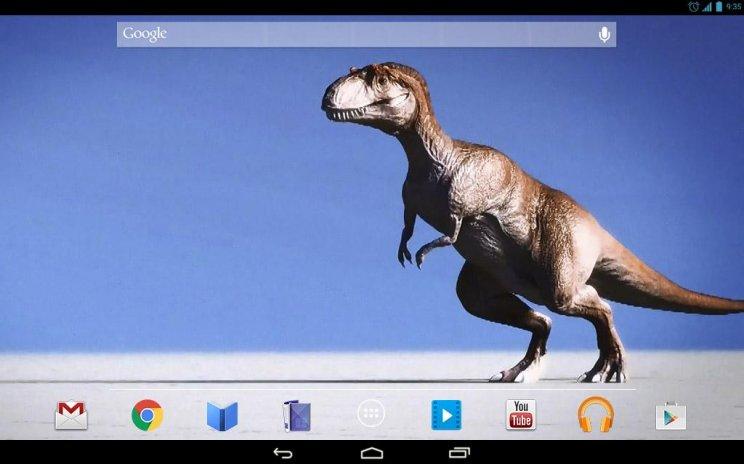Clumsy Dinosaur Live Wallpaper Screenshot 4