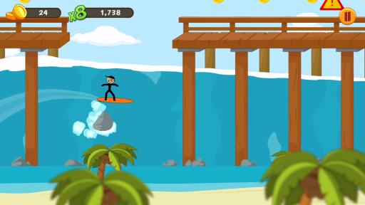 Stickman Surfer screenshot 15