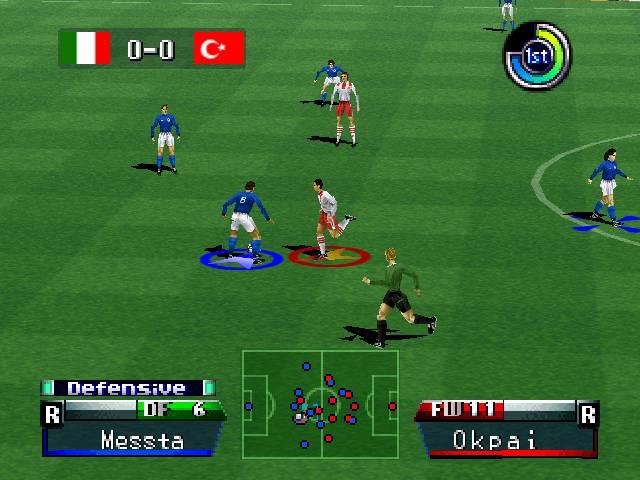 International Superstar Soccer 98 screenshot 1