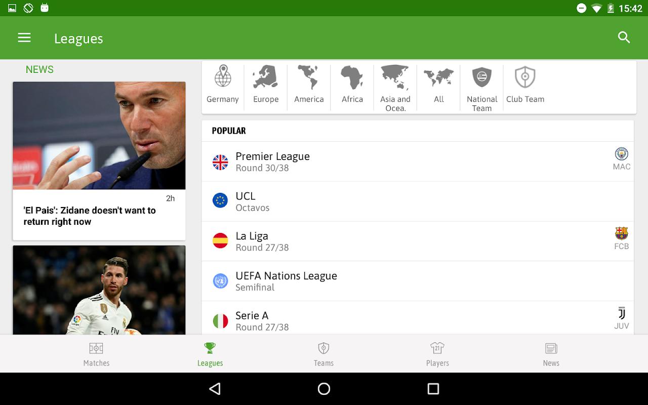 BeSoccer - Football Live Score screenshot 1
