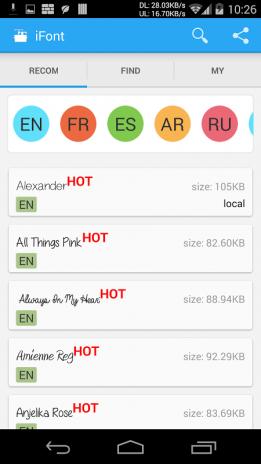 iFont (FlipFont) 5 9 8 4 Android - Aptoide için APK indir
