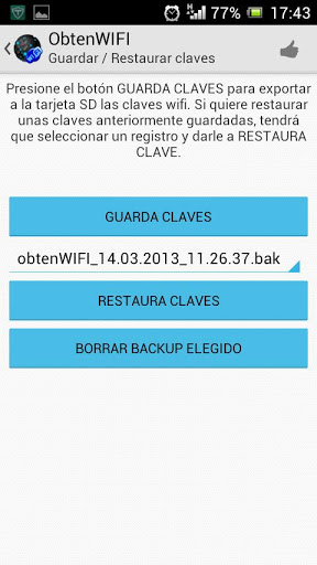 ObtenWIFI Screenshot
