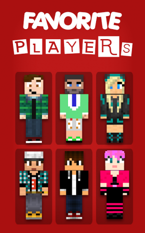 Skins Youtubers For MCPE Download APK For Android Aptoide - Skins para minecraft pe youtuber