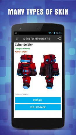 Skins For Minecraft PE Download APK For Android Aptoide - Skin para minecraft pe vip
